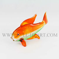 2014 murano glass animal fish figurines home dacoration Vintage Spun Glass Tropical Fish Miniature Animal Figurine