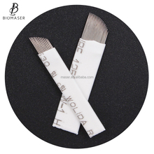 high quality semi permanent makeup micro blading needle sterilized disposable microblading blades