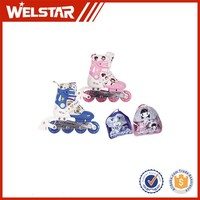 Leather and Soft Fabric pu flash wheel quad roller skates wholesale inline whleels