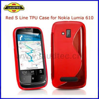 New S Line TPU Gel Case for Nokia Lumia 610,Wave Soft Gel Case