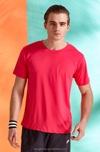 Men 's sports <strong>design</strong> breathable moisture obsorption round neck T - shirt