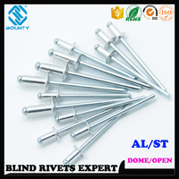 KIT PACKING DOME HEAD ALUMINUM BLIND RIVETS