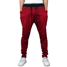 Long Style Men's Jogger With Big Pockets Hip Hop Casual Sport Pants