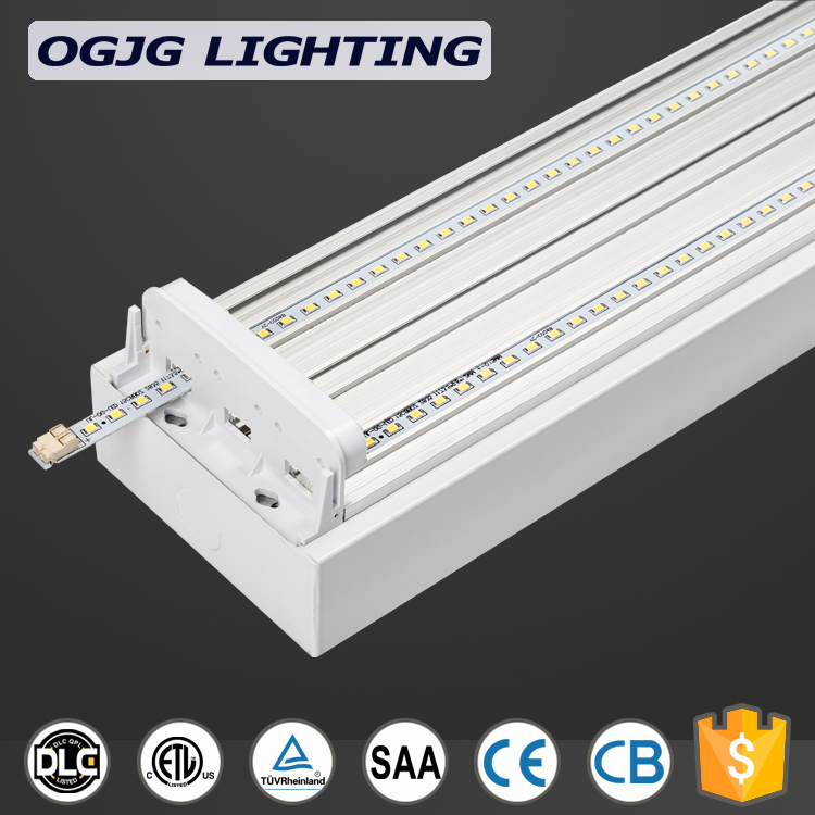 microwave motion sensor ceiling batten fixtures 4 foot 5 foot industrial Workbench suspended dali dimming led wraparound light