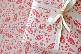 Maple leaves parttern art paper decorative paper for gifts wrapping custom design accepted