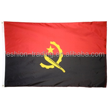 Good quality Angola car window flag,hanging roadside flag for <strong>advertising</strong>