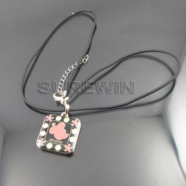 custom pendant necklace with leather string