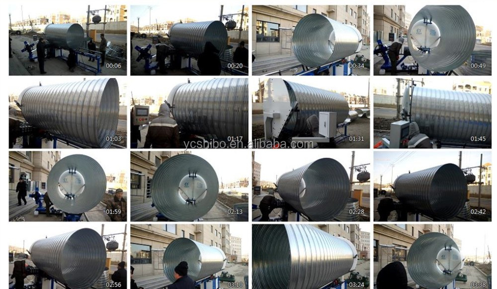 China spiral duct machine