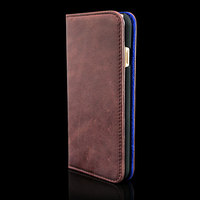 Vintage genuine leather wallet mobile phone housing for iphone 6 plus magnetic case