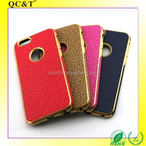 Guangzhou Factory New Luxury Weave Leather Pattern Ultra Thin Electroplating TPU Cell Phone Case for iPhone 6 6s