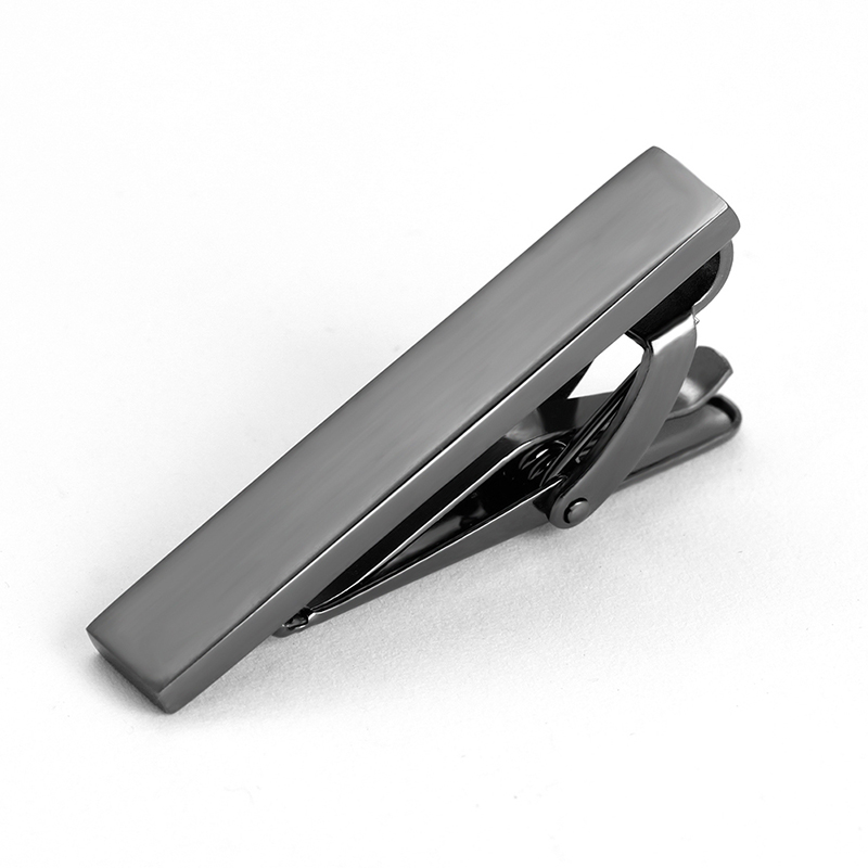 Wholesale personalized black metal clips for clip on ties small tie bar short