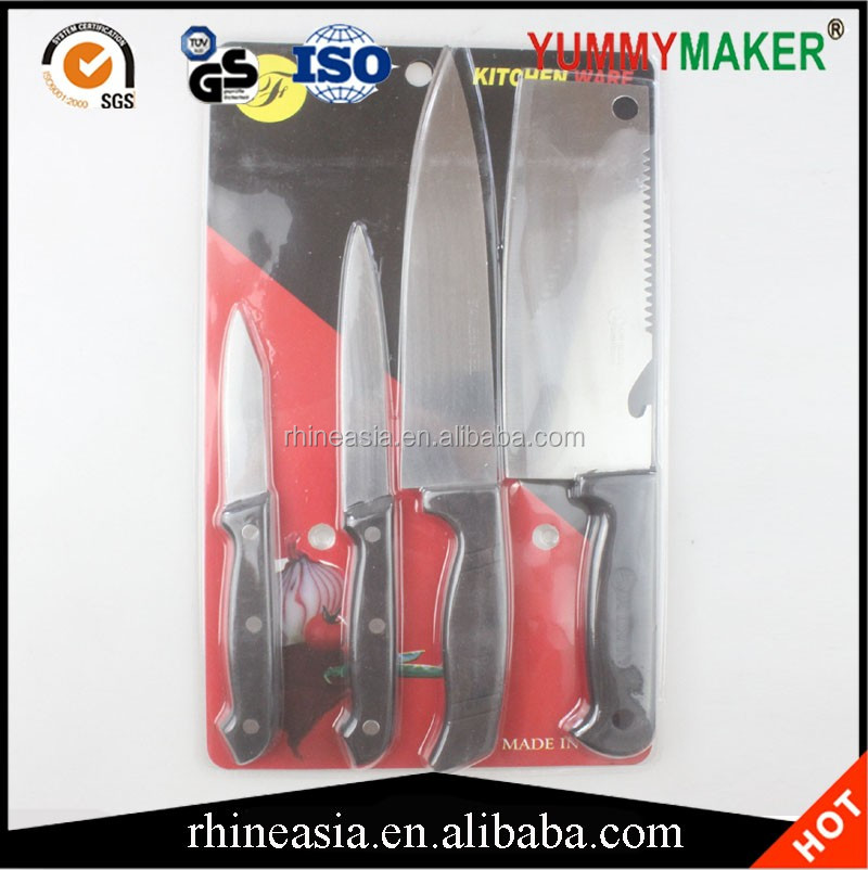 Stainless Steel Kitchen Knife Set 4pcs For Home Cooking Culinary