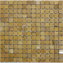 Decorate Building Materials 20 * 20 Yellow Jade Stone Mosaic Tiles