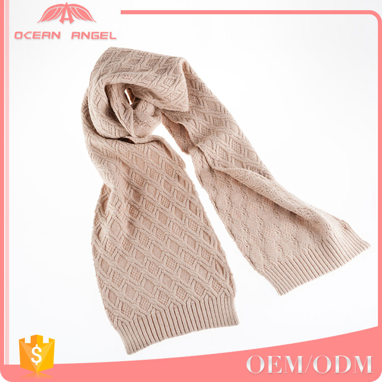 Factory Direct sale winter thick viscose knitted neck warmer young girls scarf