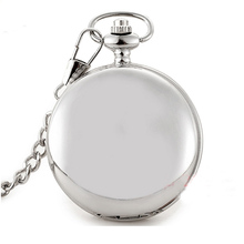 Latest wholesale fashion black shiny smooth pocket watch, silver, gold, bronze Factory direct sales