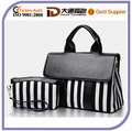 2016 New Design Vertical Stripe Canvas Fashion Handbag