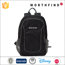 Fashion and high quality outdoor black Light Weight traveling foldable backpack