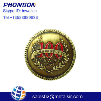 Custom brass single stamping commemorative metal coins antique die for event