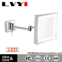 LY-1802D square hairdressing mirror shaving mirror with LED light