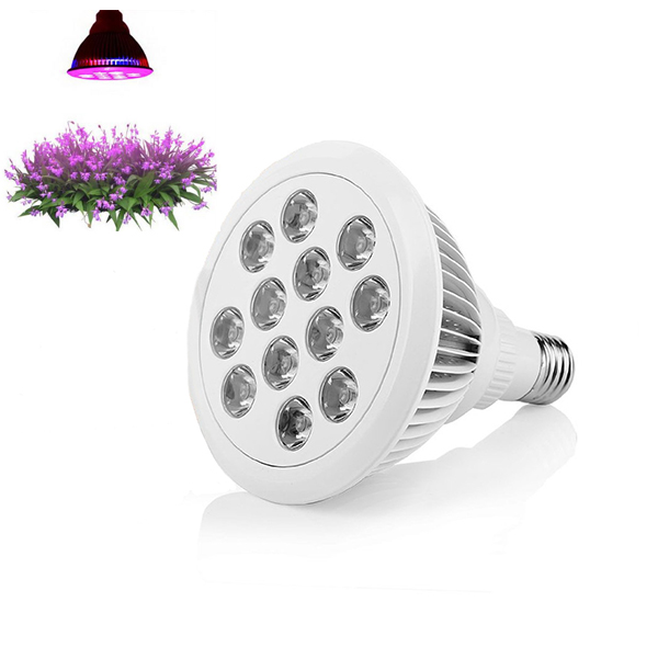 LED Grow Light 12W Plant Grow Lights E27 Growing Bulbs For Garden Greenhouse and Hydroponic Full Spectrum Growing Lamps