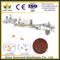 Big capacity hot sale automatic fish feed lines/ fish feed machinery/3d floating fish food pellet machine