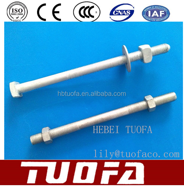 High Tension Bolt Nut / Electric Power Tower Bolt /Carriage Bolt