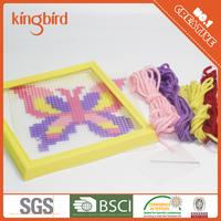 NEW DESIGN Butterfly Needlework Plastic Canvas Frame Cross Stitch Sets DIY Sewing 3D Stitch Kits
