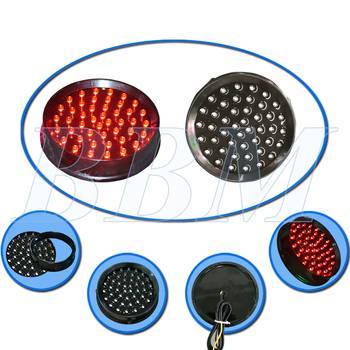 100mm red led traffic module with clear lens