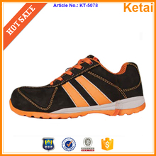 China factory safety work shoes steel toe and steel plate