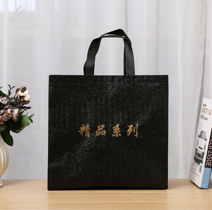 Promotional polypropylene die cut laminated TNT tote non woven shopping bag