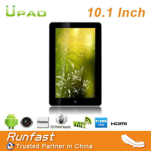 RS1002 China Wholesale Super Slim 10.1 inch Dual Core Tablet Touch Tablet Android 4.0 OS Mini PC Factory Price