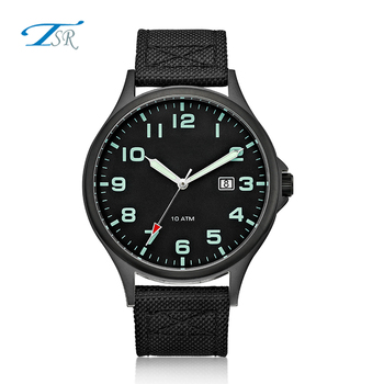 2018 Wholesale Minimalist High Quality Nylon Strap Leather Women Watches