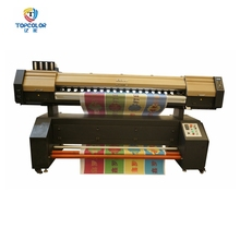 Topcolor multicolor double 5113 head sublimation printing machine 6feet cheap digital textile printer price