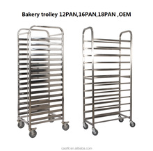 Advanced technology Kitchen stainless steel mobile gastronorm trolley for baking tray ,cooling tray