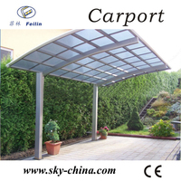 Polycarbonate and aluminum carport car shaped lighter
