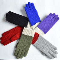 hot sale fancy gloves ladies knitted gloves