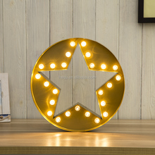 high quality party decoration light metal led marquee star