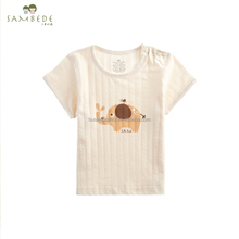 SAMBEDE Unisex Baby Top Clothes Soft& Breathable 100% Cotton Short Sleeve T-shirt SME0473