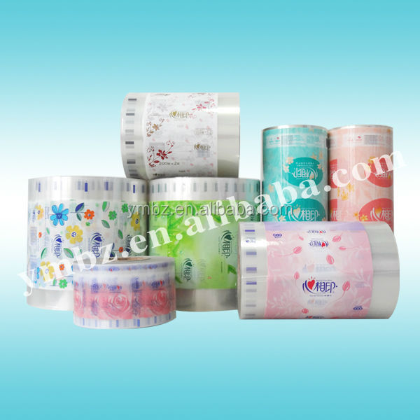 Paper hygienic plastic packaging film