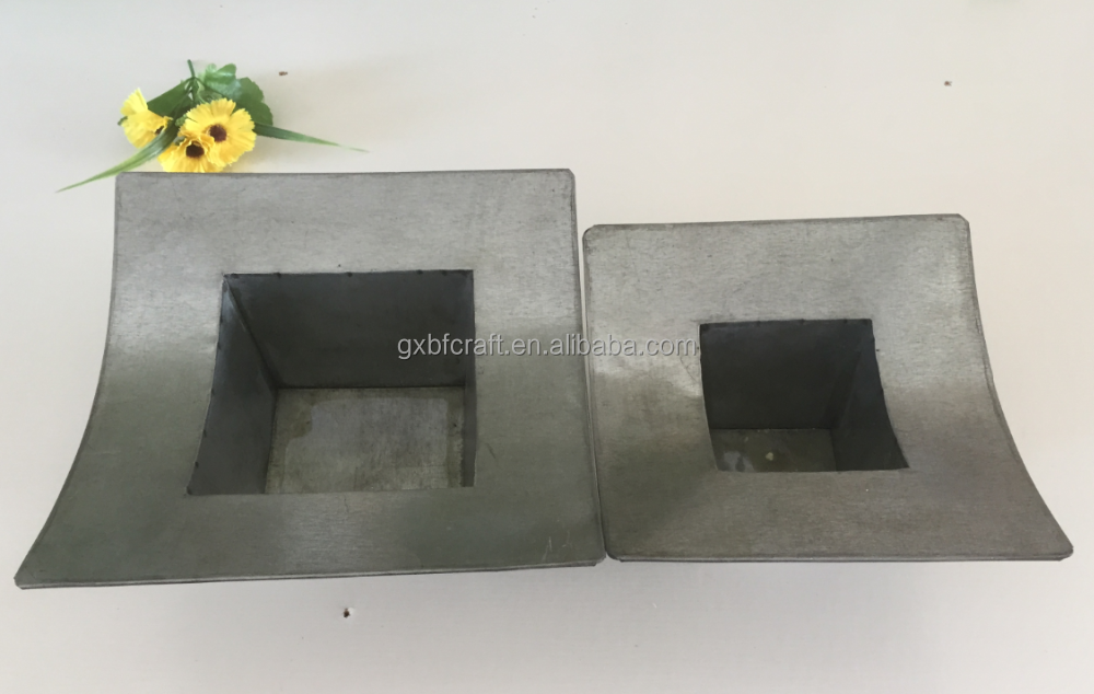 Galvanized garden pot iron sheet bonsai cheap for sale in Factory FOB