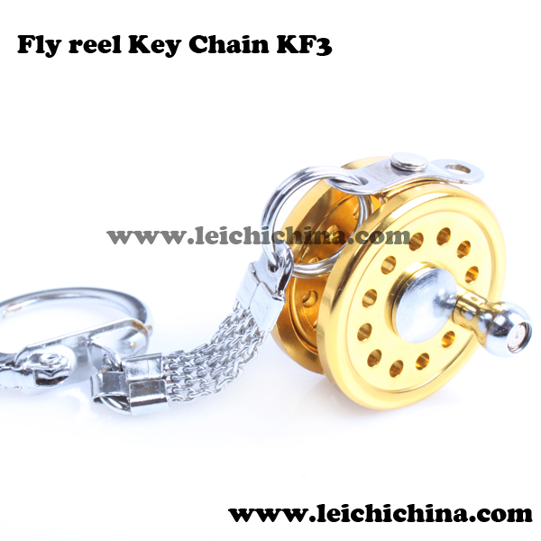 precise gift fly fishing reel key chain