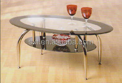 2014 high quality fashion modern tempered glass coffee table