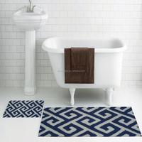Hot sale popular 100% polyester non slip bath mat