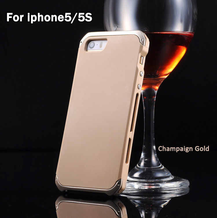 Superior Protective Fancy Bumper Screw Metal mobile Cell for iphone 5/5S phone case