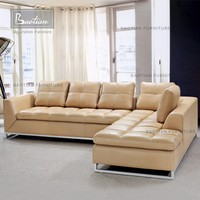 L-shape fashion chesterfield sofa sectional sofa 0347 for lving room furniture