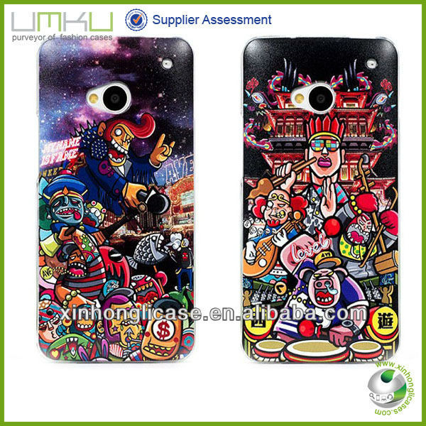 Painting Plastic Phone Name Cover,For HTC M7 Special Phone Case Cover