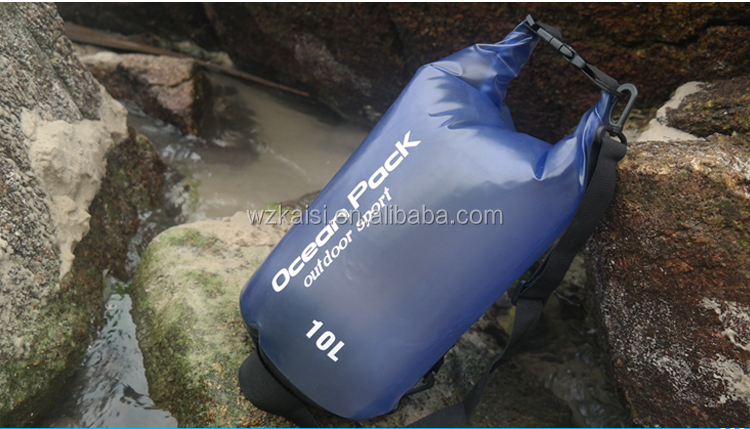 Waterproof Floatable Dry Bag With Shoulder Straps for Outdoor Camping