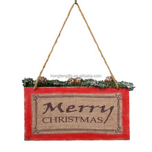 Wooden Wall Mounted Arts Board Decoration for Christmas