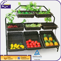 Cheap Custom Made Wicker Baskets Wholesale For Supermarket Display