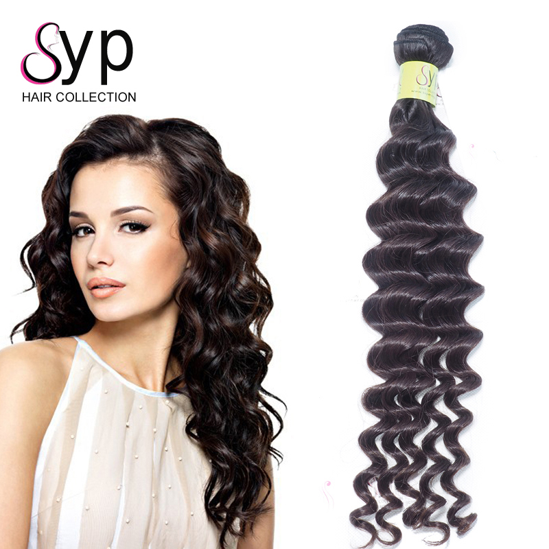Indian Natural Color Weave Human Bundle Deals Long Deep Wave Hairstyles Afro American Hair Products